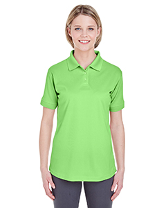 Light Green Ladies' Platinum Performance Pique Polo with TempControl Technology