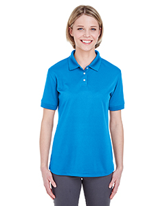 Ocean Blue Ladies' Platinum Performance Pique Polo with TempControl Technology