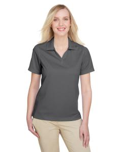 Charcoal/ Black Ladies' Cavalry Twill Performance Polo