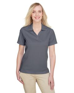 Charcoal/ Navy Ladies' Cavalry Twill Performance Polo