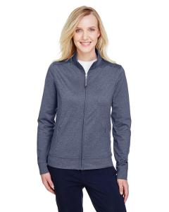 Navy Heather Ladies' Navigator Heather Performance Full-Zip