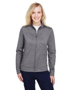 Charcoal Heather Ladies' Navigator Heather Performance Full-Zip