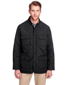 Black Men's Dawson Quilted Hacking Jacket