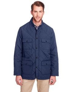 Navy Men's Dawson Quilted Hacking Jacket