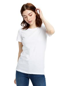 White Ladies' Made in USA Short Sleeve Crew T-Shirt