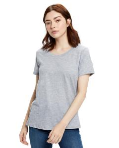 Heather Grey Ladies' Made in USA Short Sleeve Crew T-Shirt