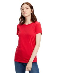 Red Ladies' Made in USA Short Sleeve Crew T-Shirt