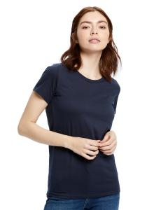 Navy Blue Ladies' Made in USA Short Sleeve Crew T-Shirt