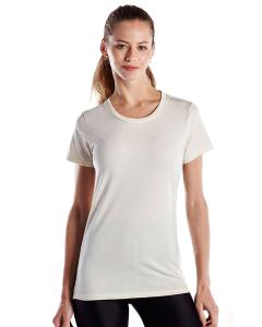 Cream Ladies' Made in USA Short Sleeve Crew T-Shirt