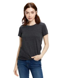 Heather Charcoal Ladies' Made in USA Short Sleeve Crew T-Shirt