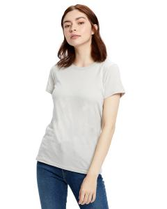 Silver Ladies' Made in USA Short Sleeve Crew T-Shirt