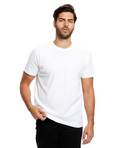 White Men's Made in USA Short Sleeve Crew T-Shirt