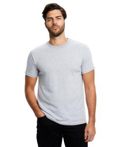 Heather Grey Men's Made in USA Short Sleeve Crew T-Shirt