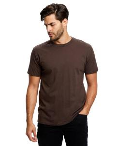 Brown Men's Made in USA Short Sleeve Crew T-Shirt