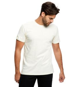 Cream Men's Made in USA Short Sleeve Crew T-Shirt