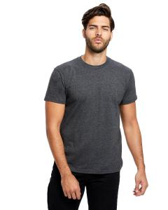 Heather Charcoal Men's Made in USA Short Sleeve Crew T-Shirt