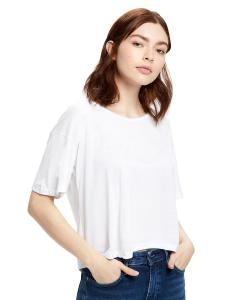 White Ladies' 4.2 oz. Boxy Open Neck Top