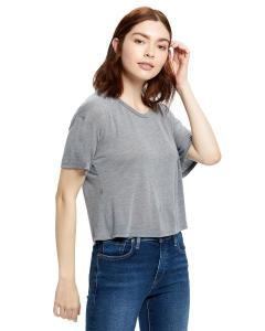 Heather Grey Ladies' 4.2 oz. Boxy Open Neck Top