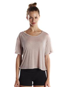 Champagne Ladies' 4.2 oz. Boxy Open Neck Top