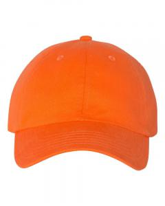 Orange Brushed Twill Cap