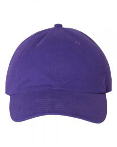 Purple Brushed Twill Cap