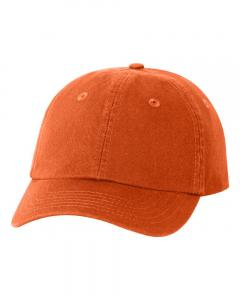 Orange Small Fit Bio-Washed Dad's Cap