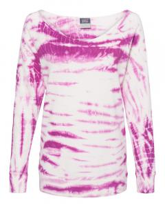 Dragonfruit Women's French Terry Off-the-Shoulder Tie-Dyed Sweatshirt