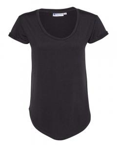 Heather Black Women's Cool Last Heathered Lux Dolman Sleeve T-Shirt