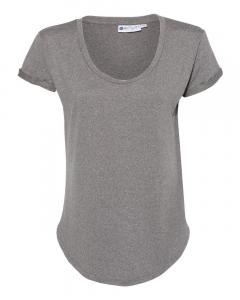 Heather Grey Women's Cool Last Heathered Lux Dolman Sleeve T-Shirt