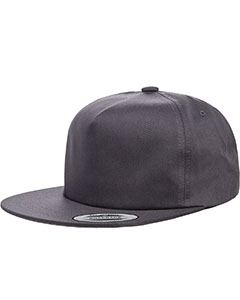 Charcoal Adult Unstructured 5-Panel Snapback Cap