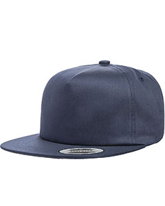Navy Adult Unstructured 5-Panel Snapback Cap